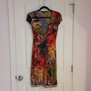 BCBG MaxAzria colorful abstract print dress (XS)